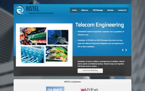 Screenshot of Home Page ristel.net - RISTEL- thanks for visiting RISTEL - captured Oct. 21, 2014