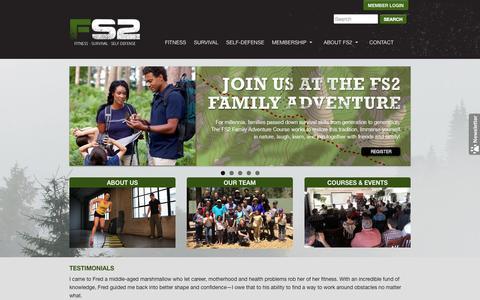 Screenshot of Home Page fs2training.com - FS2 Training - captured Sept. 30, 2014