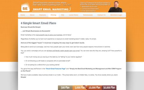Screenshot of Pricing Page smartemail.com.au - Email Marketing Plans - Get Online Email Marketing Services at Low Price - captured May 11, 2017