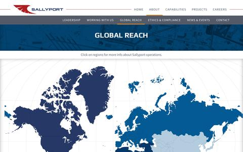 Screenshot of Maps & Directions Page sallyportglobal.com - Global Reach - Sallyport Global - captured July 27, 2018