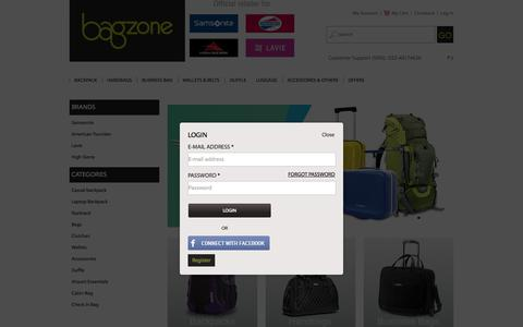Screenshot of Login Page bagzone.com - Online Shopping for Handbags, American Tourister Luggage and Samsonite Briefcase - Bagzone Store - captured Nov. 3, 2014