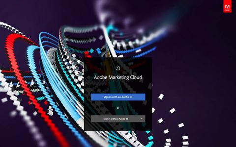 Screenshot of Login Page adobe.com - Adobe Marketing Cloud - captured May 24, 2016