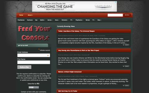 Screenshot of Press Page feedyourconsole.com - News - FeedYourConsole - captured Sept. 30, 2014