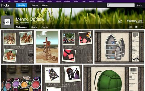 Screenshot of Flickr Page flickr.com - Flickr: Kari - Menno Ophelia's Photostream - captured Oct. 27, 2014