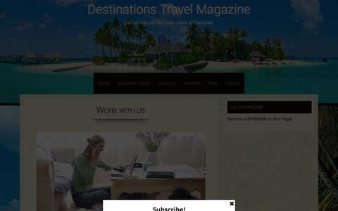 Screenshot of Team Page destinationstravelmagazine.com - Work With Us - Destinations Travel Magazine - captured Jan. 14, 2016