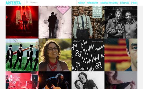 Screenshot of Home Page artezeta.com.ar - artezeta | Critica Emergente Revista Digital - captured Sept. 16, 2015