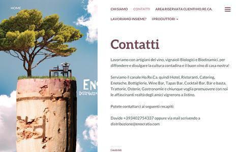 Screenshot of About Page wordpress.com - Contatti | Enocratia - captured Sept. 12, 2014