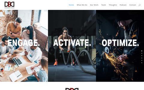 Screenshot of Home Page demandbydesign.com - MARKETING THAT DELIVERS | Demand By Design - captured Aug. 6, 2018