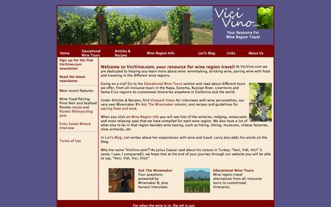 Screenshot of Home Page vicivino.com - ViciVino.com - captured Oct. 7, 2014