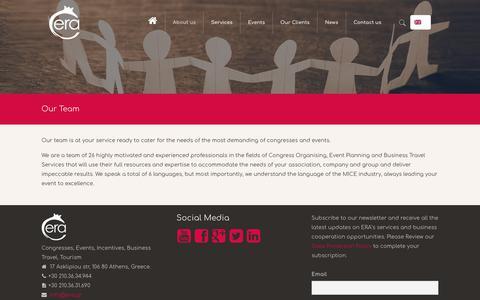 Screenshot of Team Page era.gr - Congress Organising, Event Planning, Business travel - captured Dec. 13, 2018