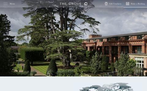 Screenshot of About Page thegrove.co.uk - Five Star Luxury Hotel Near Watford   The Grove Hotel - captured Sept. 21, 2018