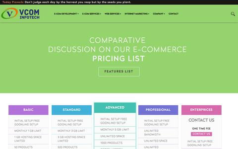 Screenshot of Pricing Page vcominfotech.com - Web Design Companies Coimbatore,Coimbatore Web Design Companies,Web Designing Company Coimbatore,Web Design company in Coimbatore,Web Design Companies Ooty,Web Designing Companies Coimbatore | Ooty | Tamilnadu | India - captured Feb. 28, 2016