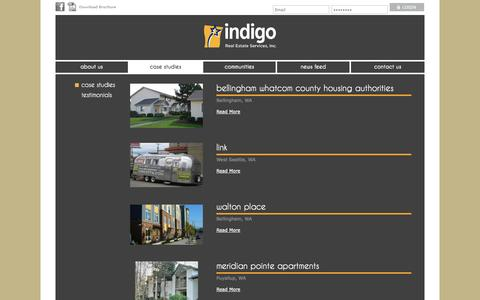 Screenshot of Case Studies Page indigorealestate.com - Indigo Real Estate | Our Client Success Stories - captured Oct. 6, 2014