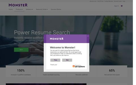 Resume Search For Employers | Monster.com