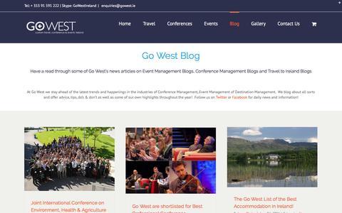 Screenshot of Blog gowest.ie - Blog - Go West - captured May 20, 2017