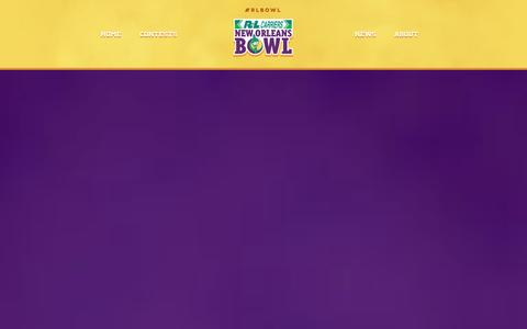 Screenshot of Home Page rlbowl.com - Home - R+L Carriers New Orleans Bowl - captured Oct. 6, 2014