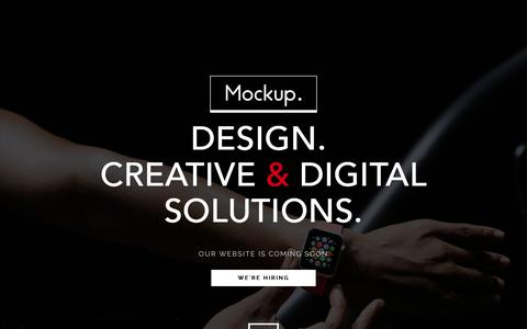 Screenshot of Home Page mockup.build - Mockup. - Digital Agency - captured Jan. 28, 2015