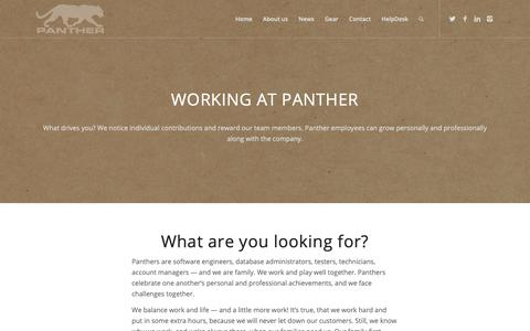 Screenshot of Jobs Page panthersys.com - Panther Systems - software engineer, process engineer and DBA careers - captured Dec. 14, 2018