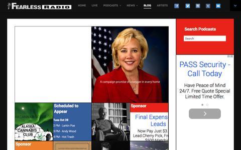 Screenshot of Blog fearlessradio.com - Fearless Radio Blog - Fearless Radio - captured Oct. 29, 2014