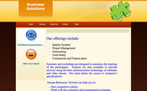 Screenshot of Services Page businessolutions.ws - Business Solutions - captured Oct. 1, 2014