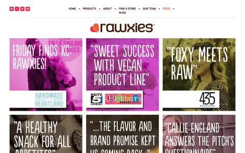 Screenshot of Press Page rawxies.com - press — rawxies - captured Oct. 26, 2014