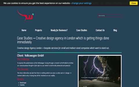 Screenshot of Case Studies Page websprint.me - Creative design agency London - Case Studies & Client List - captured Oct. 25, 2014