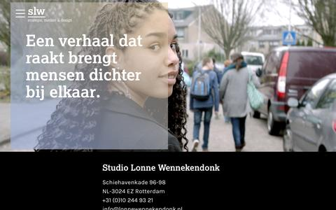 Screenshot of Contact Page studiolonnewennekendonk.nl - Studio Lonne Wennekendonk  contact - captured Dec. 18, 2016