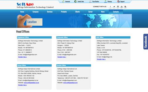 Screenshot of Locations Page softage.net - :: Locations :: - captured Oct. 7, 2014