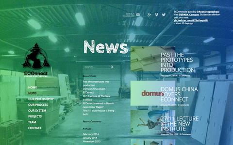 Screenshot of Press Page eco-nnect.eu - ECOnnect » News - captured Sept. 26, 2014