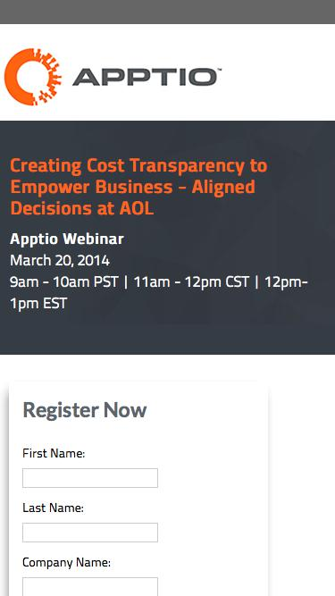 Apptio Webinar: Creating Cost Transparency to Empower Business - Aligned Decisions at AOL