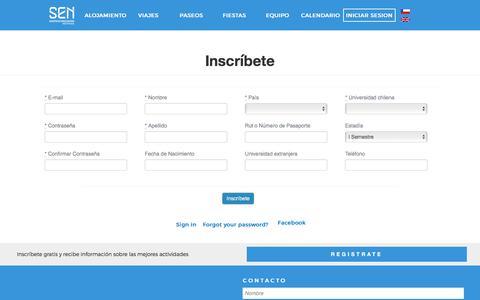 Screenshot of Signup Page santiagoexchange.com captured March 4, 2016