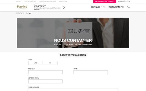 Screenshot of Contact Page parly-2.com - Parly 2 - captured Oct. 21, 2018