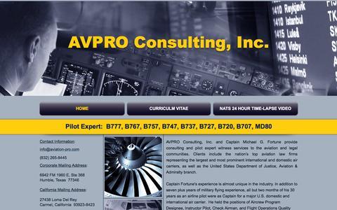 Screenshot of Home Page aviation-pro.com - Pilot Expert - captured Feb. 5, 2016