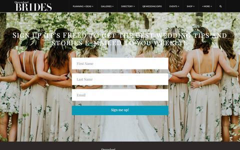 Screenshot of Signup Page queenslandbrides.com.au - QB Newsletter - Queensland Brides - captured Oct. 21, 2018