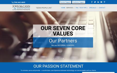 Screenshot of About Page mccannassociates.com - About John McCann and Associates, Inc., Mooresville, NC - captured Nov. 14, 2018