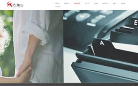 Screenshot of Home Page ag-prime.com - AG Prime - captured Sept. 30, 2014