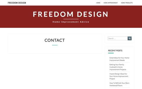 Screenshot of Contact Page freedomdesign.us - Contact – Freedom Design - captured Aug. 4, 2016