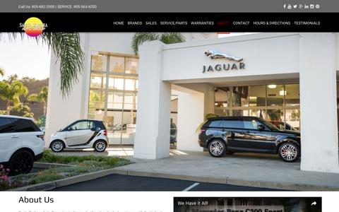 Screenshot of About Page sbautogroup.com - Santa Barbara Auto GroupAbout Us | Santa Barbara Auto Group - captured Nov. 19, 2016