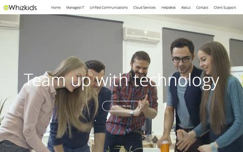 Screenshot of Home Page whizkids.tech - Managed IT Services, Unified Communications, Cloud Services | Whizkids - captured Oct. 21, 2017