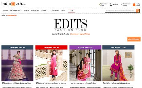 Screenshot of Blog indiarush.com - Best Fashion Edits: Fashion Theme, Style, Inspiration - Everyday - Indiarush - captured Jan. 16, 2017