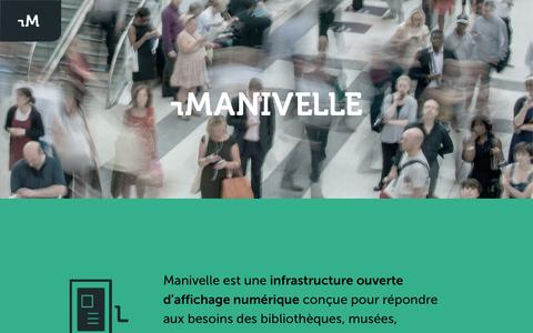 Screenshot of Home Page manivelle.io - Manivelle - captured Jan. 31, 2015