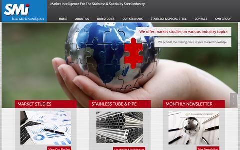 Screenshot of Home Page steel-intelligence.com - Home - SMI - Steel Market Intelligence - captured Oct. 1, 2018