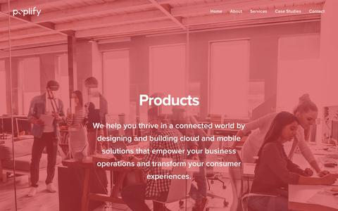 Screenshot of Products Page poplify.com - Products – Poplify - captured Dec. 15, 2018