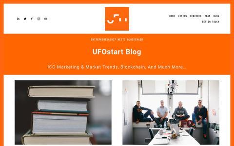 Screenshot of Blog ufostart.com - UFOstart Blog — UFOstart - captured Sept. 30, 2018