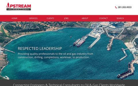 Screenshot of Home Page upstintl.com - Upstream International, LLC - captured Sept. 5, 2015