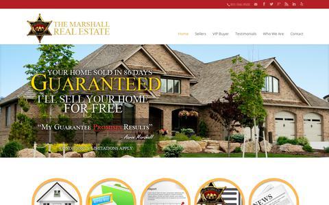 Screenshot of Home Page Privacy Page themarshall.com - THE Marshall Real Estate - captured Nov. 1, 2018