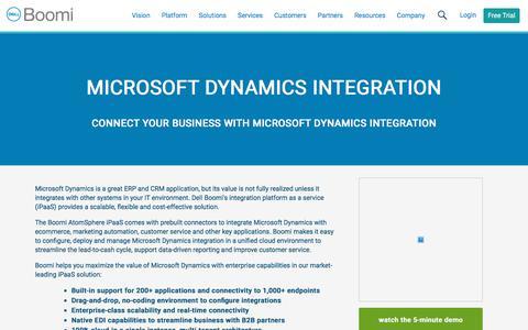 Microsoft Dynamics Integration - Dell Boomi