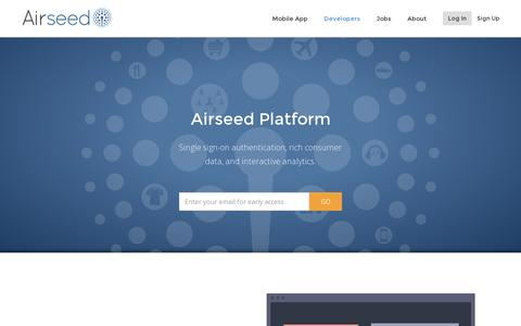 Screenshot of Developers Page airseed.com - Airseed - captured July 19, 2014