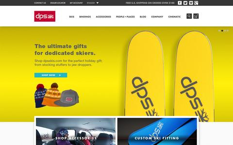 Screenshot of Home Page dpsskis.com - DPS Skis - captured Jan. 20, 2016
