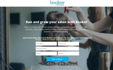 Screenshot of Landing Page booker.com captured Sept. 19, 2018
